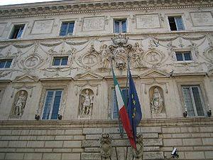 Palazzo Spada - Facade details.
