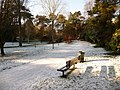 Bournemouth, a bench with a snowy view - geograph.org.uk - 1653488.jpg