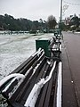 Bournemouth Gardens, bench snow begins to thaw - geograph.org.uk - 1194973.jpg