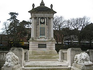 History of Bournemouth - The Bournemouth War Memorial, built in 1921, located in the central gardens.