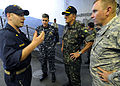 Brazilian military Gen. Floriano Peixoto, commander of United Nations Stabilization Mission in Haiti, and U.S. Army Lt. Gen. P.K. Keen, deputy commander of U.S. Southern Command and commanding general of Joint 100311-N-HX866-018.jpg