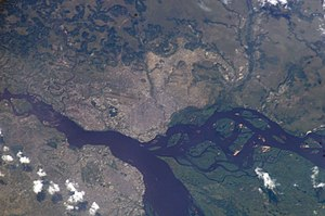 Brazzaville - View of Brazzaville from space