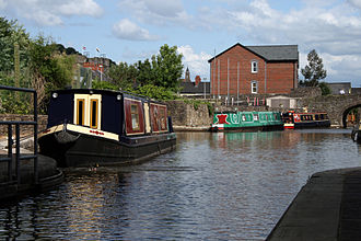 Monmouthshire and Brecon Canal - Another view of the canal basin at Brecon