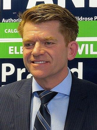 2015 Alberta general election - Image: Brian Jean April 28 2015
