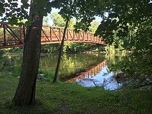 Flushing, Michigan - Bridge over Flint River from Flushing Trail