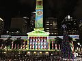 Brisbane City Hall During Christmas light show in 2016, 04.jpg