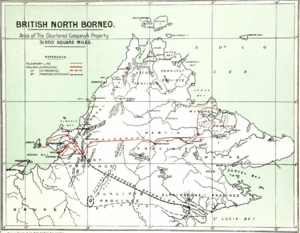 North Borneo Chartered Company - Area acquired by the company.
