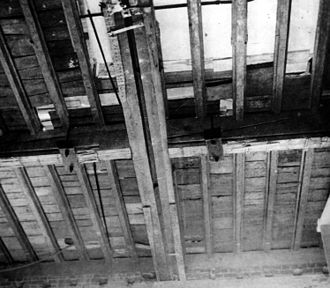White House Reconstruction - Split beam supporting the Second Floor under Margaret Truman's Sitting Room, 1949