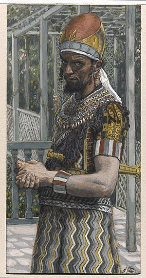 Herod Antipas - Herod (Hérode), by French painter and Bible illustrator James Tissot, in the Brooklyn Museum