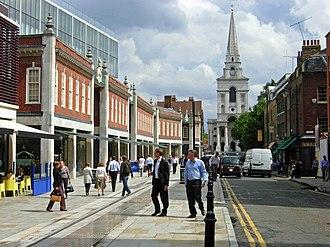 Spitalfields - Image: Brushfield Street, Spitalfields geograph.org.uk 221029