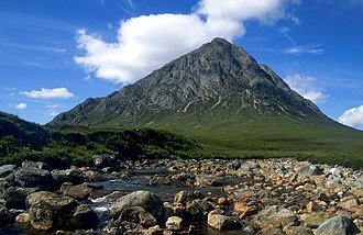 Ben Nevis and Glen Coe National Scenic Area - Buachaille Etive Mòr lies close to the head of both Glen Coe and Glen Etive, on the edge of Rannoch Moor.