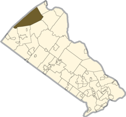 Location of Springfield Township in Bucks County
