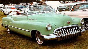 Buick Y-Job - 1950 Buick convertible, using styling cues from the Buick Y-Job