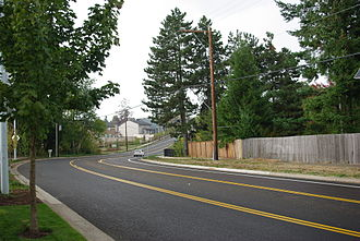 Tigard, Oregon - Bull Mountain Road in Tigard