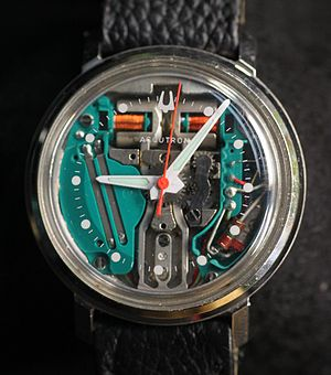 Electric watch - Bulova Accutron Spaceview (electronic with tuning fork) 1967
