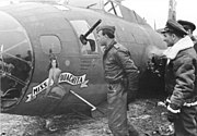 Bundesarchiv Bild 101I-666-6875-05, Abgeschossenes amerikanisches Flugzeug B 17