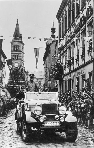 Mercedes-Benz W31 - Adolf Hitler at a parade in Kraslice, 4 October 1938