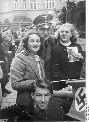 Salzburg - Young Austrians at celebrations just after the Anschluss