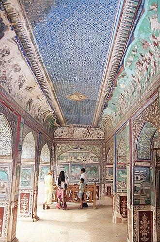 Bundi - Original paintings in Bundi Palace (visiting Sept. 2004)