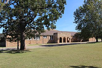 Pawnee Agency and Boarding School Historic District - Original school building, now the Bureau of Indian Affairs