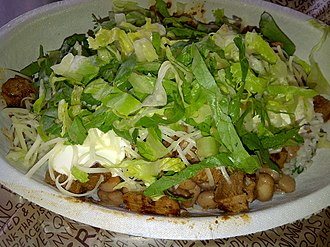 Chipotle Mexican Grill - Chicken Burrito Bowl