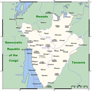 Geography of Burundi - Image: Burundi map OMC