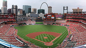 Panorama of Busch Stadium.