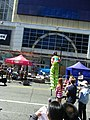 Buskers on stilts, Buskerfest, 2014 08 24 -h (14840874377).jpg