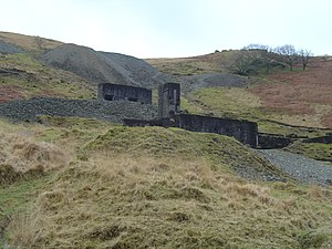 Plynlimon and Hafan Tramway - Bwlch-glâs mine - one of the reasons for the existence of the tramway.