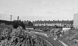 Byker railway station - Remains of Byker station in 1974.