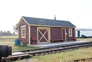 Canadian Northern Railway - Canadian Northern Portable Train Station for  Debden and later Brisbin, Saskatchewan
