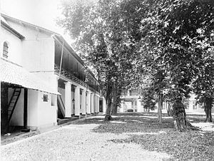 Museum Bank Indonesia - The old courtyard in 1901, depicting the earlier hospital architecture.