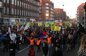 2009 United Nations Climate Change Conference - 12 December demonstration moving down Amagerbrogade