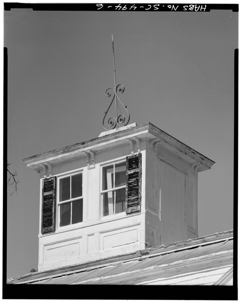 File:CUPOLA - Sunnyside Plantation, County Road 767, Edisto Island, Charleston County, SC HABS SC,10-EDIL,8-6.tif