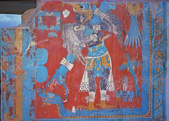 Tlaxcala - One of the murals at Cacaxtla