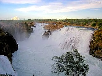 Natural monument (Brazil) - Waterfall of the São Francisco River in the Bahia city of Paulo Afonso