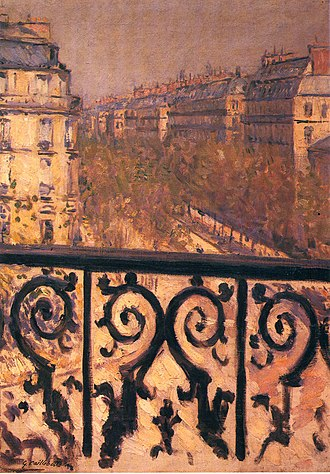 A Balcony in Paris - Image: Caillebotte a balcony in paris 1881