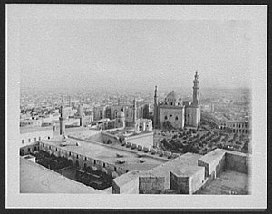 Timeline of Cairo - Image: Cairo panorama from the Citadel left half LCCN2004707269