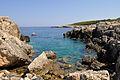 Cala Tramontana from Punta del Vuccolo - San Domino Island, Tremiti, Foggia, Italy - August, 2013 02.jpg