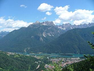 Calalzo di Cadore - Calalzo di Cadore and surrounding mountains