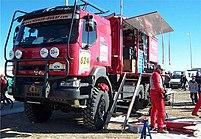 An assistance truck in Dakar 2004, Castellon b...