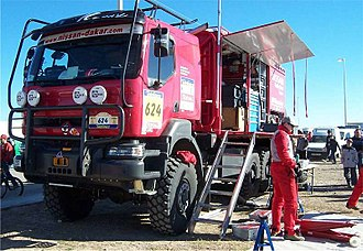 Dakar Rally - A support truck during the 2004 Dakar
