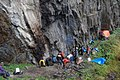 Camp under a rock. Morning, the 20th day of Barun trekking. GPS exactly. - panoramio.jpg