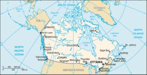 kart over canada Canada – Wikipedia kart over canada