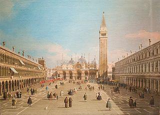 La Place Saint-Marc et la Basilique, Venise