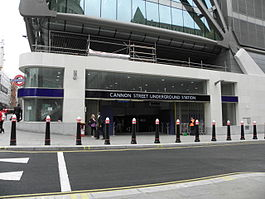 Cannon Street tube stn entrance 2012.JPG
