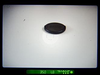 Single-lens reflex camera - Typical film SLR viewfinder information