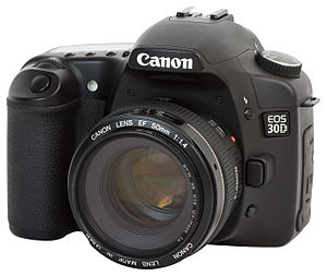 Canon EOS 30D - Image: Canon EOS 30D with EF 50mm 1.4