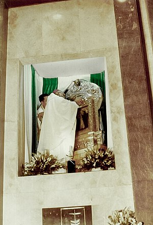 Our Lady of Porta Vaga - Bishop Bruno Torpigliani as the Apostolic Nuncio to the Philippines Crowning the image in 1978.