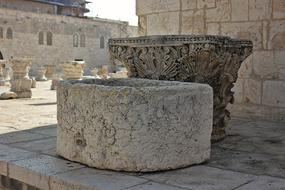 Capitals, Temple Mount, Jerusalem, Palestine